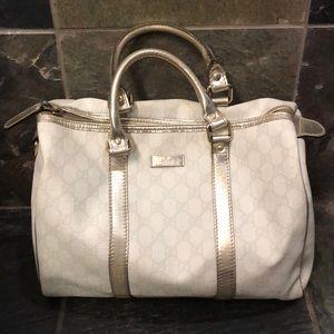 Authentic White/Silver Gucci Handbag